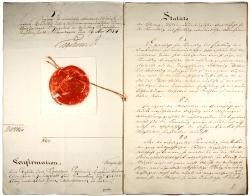 König Friedrich IV. bestätigte 1834 das Statut der neuen Gesellschaft