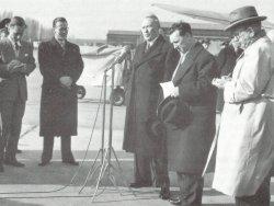 Abschied von H.C.Hansen am 30. März 1955 auf dem Flughafen in Köln/Bonn