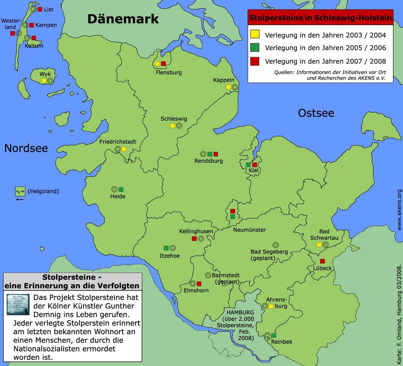 Schleswig Holstein Karte.Stolpersteine Gesellschaft Für Schleswig Holsteinische Geschichte