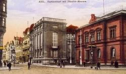Die Postkarte zeigt das Museum mit Anbau