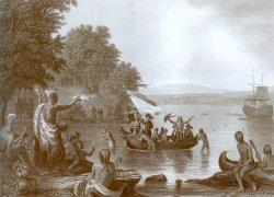 Der Engländer Henry Hudson entdeckt im Auftrag der Niederländer 1609 den später nach ihm benannten Hudson