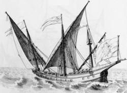 """Die """"Schebecke"""" - mit solchen Schiffen gingen die nordafrikanischen Barbaresken im Mittelmeer auf Kaperfahrt"""