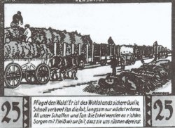 Der Bahnversand von Pflanzen als Motiv auf Notgeldscheinen der Gemeinde Halstenbek Anfang der 1920er Jahre