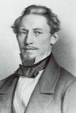 Wilhelm Bauer auf einer Lithographie von 1860