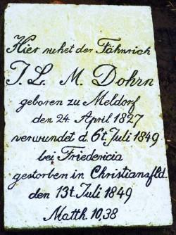Alle Gräber auf dem Gottesacker von Chritiansfeld sind erhalten. So finden sich dort auch die Opfer der Kämpfe der Schleswig-Holsteinischen Erhebung