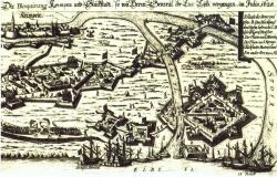 Die Festungen Krempe und Glückstadt während des Angriffes im Kaiserlichen Krieg