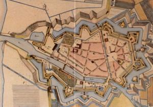 Historischer Grundriß Glückstadts