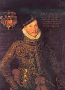 Herzog Adolf im Prunkharnisch. Gemälde eines unbekannten Künstlers, um 1586