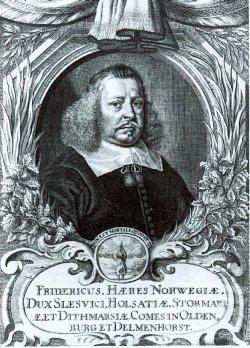Herzog Friedrich III. Kupferstich von Johachim Sandrart, 1671