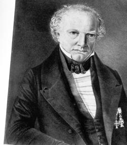 Erster Präsident der Gesellschaft war der Rechtsgelehrte Niels Nicolaus Falck (1784-1850)