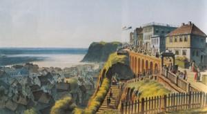 Helgoland um 1860 - Lithographie von Wilhelm Heuer
