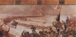 Gemälde der Schlacht bei Hemmingstedt von Max Koch, 1910