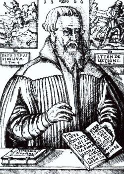 Der dänische Reformator Niels Hemmingsen.