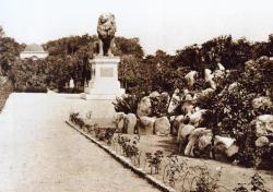 Der Idstedt Löwe auf dem Alten Friedhof in Flensburg