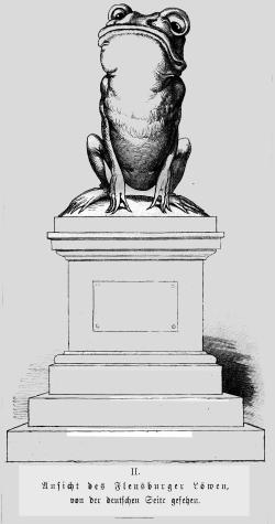 Zu den Löwenspöttern in Deutschland gehörte auch Wilhelm Busch, der den Löwen aus deutscher Sicht karikierte