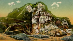 Der Segeberger Kalkberg  wie er vor dem Bau des Kalkbergstadions war