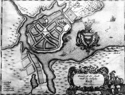 """Lageplan von 1652 mit der neuen Schreibweise """"Kiell"""""""