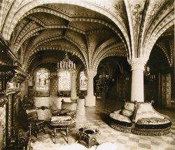 Wappen- und Audienzsaal des Haupthauses des Schlosses vor dem ersten Weltkrieg