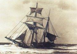 """Ende September 1872 strandete bei Wenningstedt auf Sylt die niederländische Kuff """"De Spoit"""""""