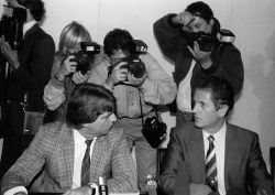 """Die """"Ehrenwortpressekonferenz"""" von Uwe Barschel am 18. September 1987"""