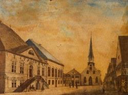 Für die neue Vertretung wurde an das Rathaus in Itzehoe der Ständesaal angebaut.