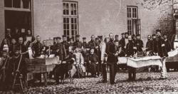 """Im Hof des """"Bürgervereins"""" – in der Borgerforeningen und dem Ständehaus waren die erste Lazarette untergebracht"""