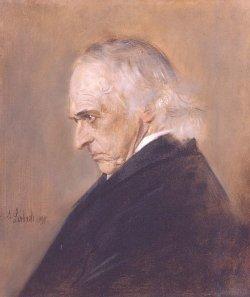 Resignation am Lebensende: Portrait Mommsens gemalt 1897 von Franz Lenbach (1836 - 1904)