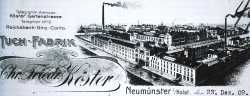Der Briefkopf der Firma Köster 1909