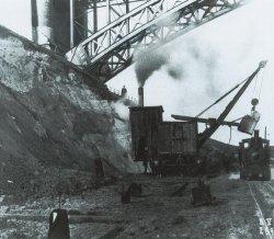 """Mit Dampfbagger begann schon 1907 der erste Ausbau des """"Kaiser-Wilhelm-Kanals"""""""