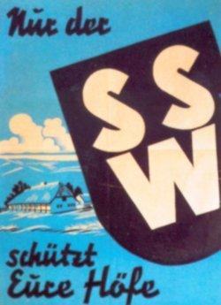 Plakat des Südschleswigschen Wählerverbandes zur Landtagswahl 1950
