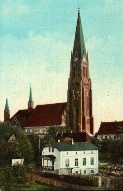 Der Schleswiger Dom auf einer Postkarte von 1910