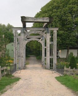 """Die auf Betreiben des """"Canal-Vereins"""" wieder hergestellte Schleuse Königsförde"""