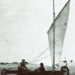 Die ersten Versuche, auf dem Strand von St.Peter-Ording zu segeln in den 1920er Jahren