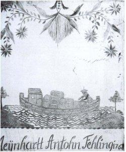 Das Bild des beladenen Stecknitzkahns von 1758 gibt einen guten Eindruck, wie Waren in der frühen Neuzeit transportiert wurden