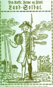 Halb Soldat, halb Landarbeiter: bis zum Ende der Leibeigenschaft trug die besitzlose Landbevölkerung diese Doppellast