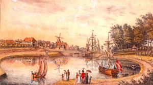 Wohlstandsidylle mit Kanal: Blick auf gut Knop bei Kiel
