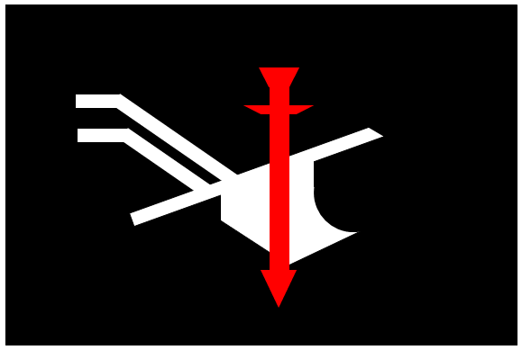 Die Flagge der Landvolkbewegung