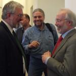 Prof. Enno Bünz, Klaus-Joachim Lorenzen-Schmidt und Günther Bock gut gelaunt von Anfang an